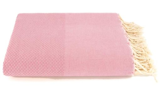 plaid roze grand foulard oudroze katoen