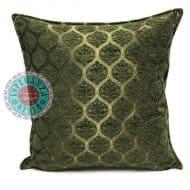 sierkussen groen donkergroen honingraat meubelstof
