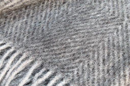 zwarte plaid visgraat wol