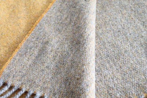 plaid grijs geel wol