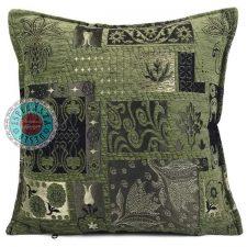kussen groen patchwork