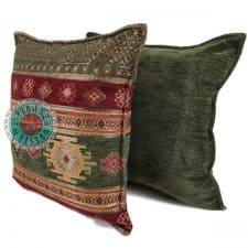 kussens groen strepen aztec