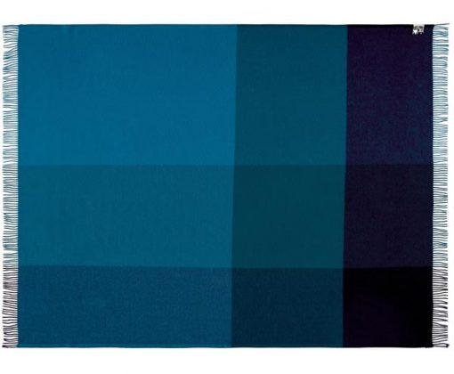 plaid blauw wol blokken