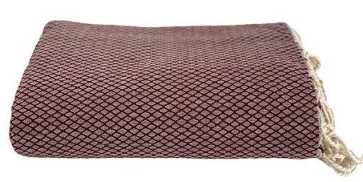 plaid bordeauxrood grand foulard