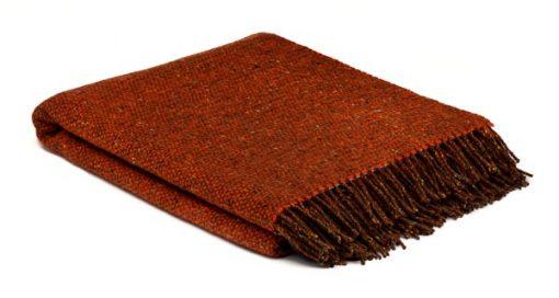 plaid oranje bruin wol mcnutt