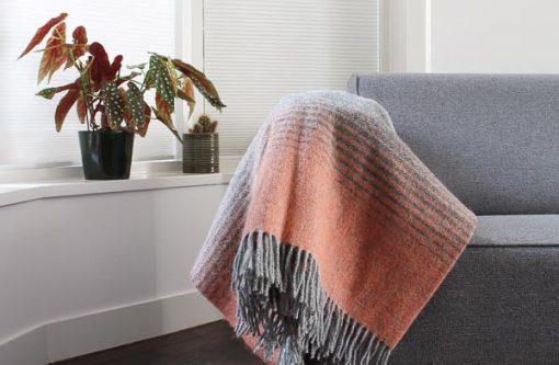 plaid oranje grijs strepen mcnutt woll