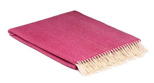 plaid roze visgraat merinowol mcnutt