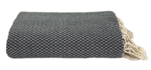 plaid zwart grand foulard katoen