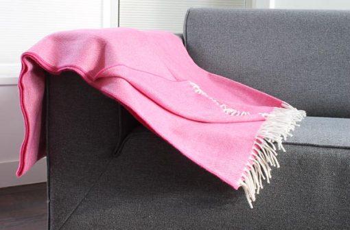 roze plaid visgraat wol mcnutt