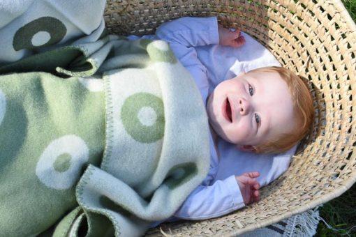 wiegdeken groen klippan wol