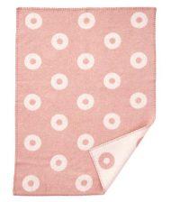 wiegdeken roze wol cirkels Klippan