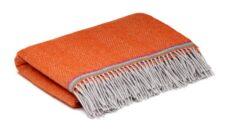 oranje ledikantdeken wol visgraat mcnutt