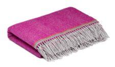 ledikantdeken roze wol visgraat mcnutt