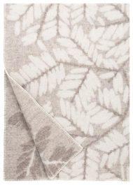 plaid beige wol bladeren