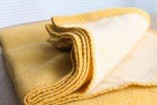 plaid geel merinowol