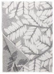 plaid grijs wit bladeren wol