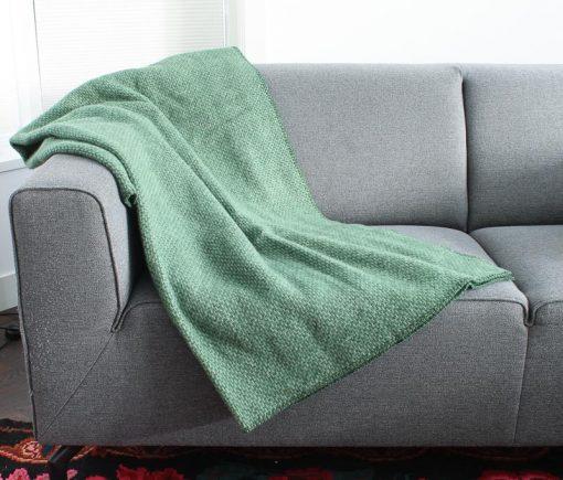 plaid groen wol klippan domino