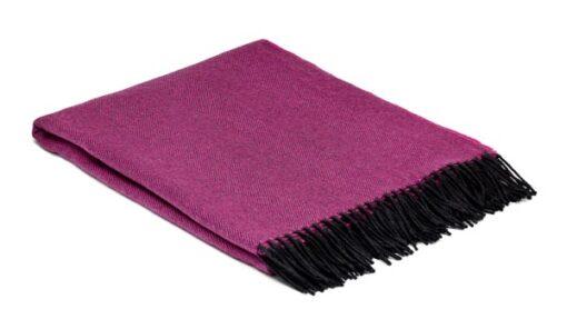 plaid roze grijs visgraat wol mcnutt