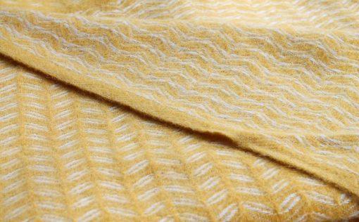 gele plaid merino wol klippan