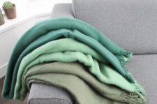 groene plaids wol effen silkeborg