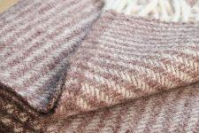 klippan plaid bruin lamswol strepen
