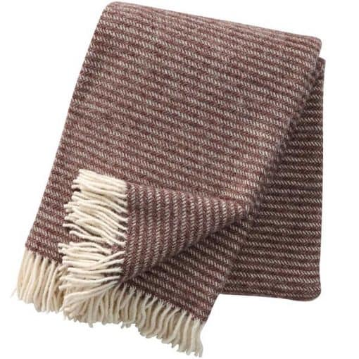 plaid bruin strepen wit klippan lamswol ralph