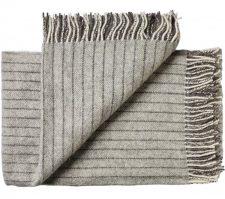 deken plaid grijs streepjes wol silkeborg