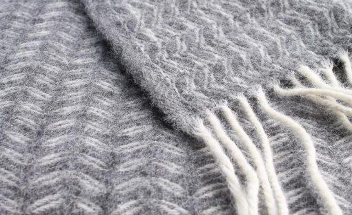 plaid grijs merino wol klippan