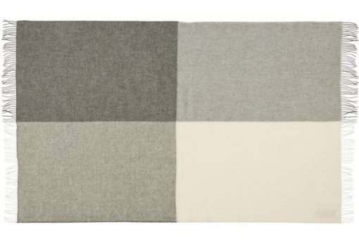 plaid grijs wit deken wol blokken silkeborg