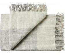 plaid grijs wit ruiten wol silkeborg
