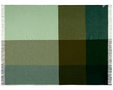 plaid groen merinowol blokken silkeborg