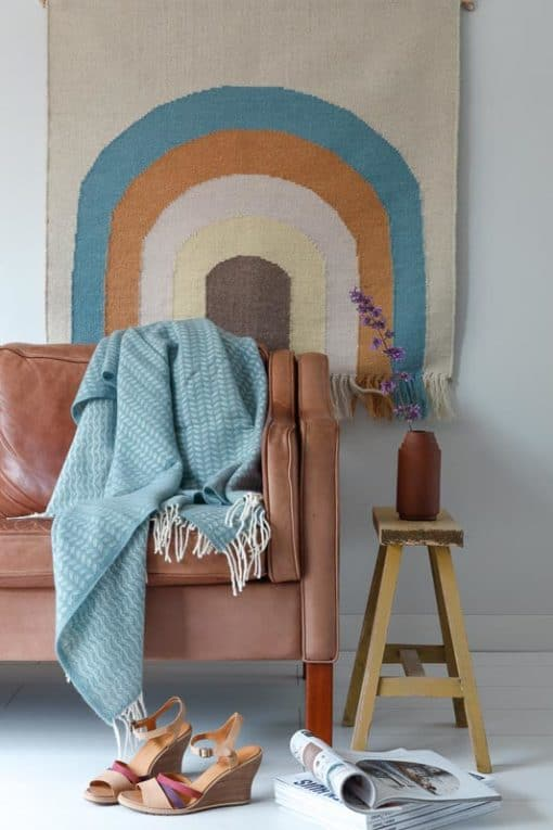 plaid lichtblauw leadgrey wol