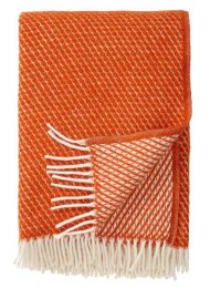 plaid oranje lamswol klippan rust velvet
