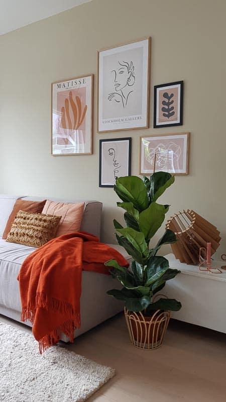plaid oranje silkeborg wol deken