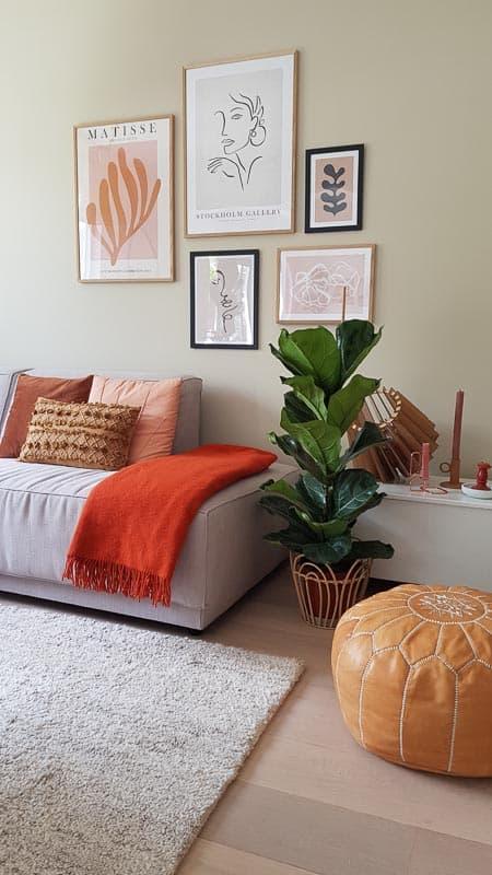 plaid oranje silkeborg wol