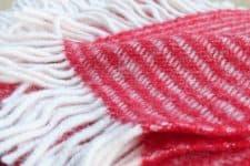 rode plaid klippan lamswol strepen wol
