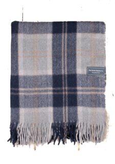 deken wol ruiten blauw plaid