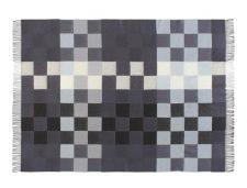 grijze plaid merino blokken wol