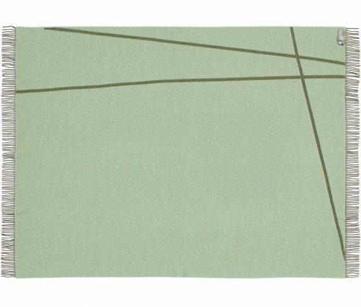 groene plaid merino wol lijnen