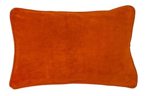 kussen oranje rood velvet langwerpig