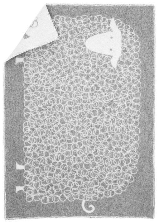ledikantdeken schaap grijs wol