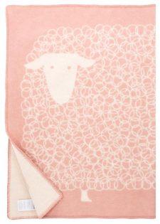 ledikantdeken roze schaap lapuan