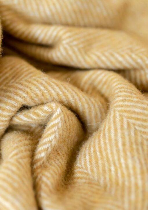 okergele plaid wol visgraat