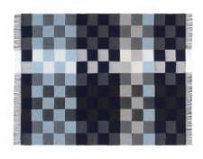 plaid blauw grijs blokken merino wol