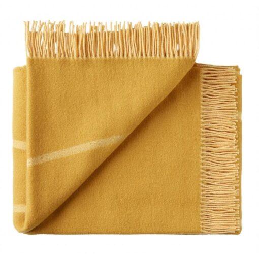 plaid geel merino wol streep