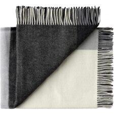 plaid grijs merino wol