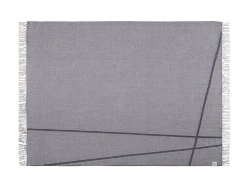 plaid grijs wol merino