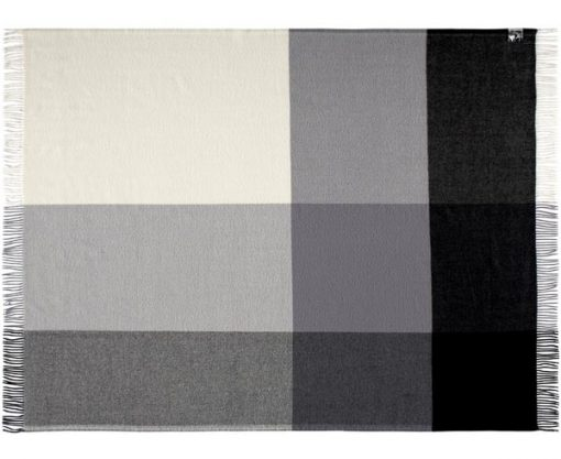 plaid grijs wol merino blokken