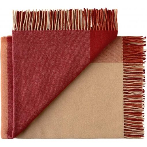 plaid oranje rood wol