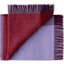 plaid paars rood merino wol